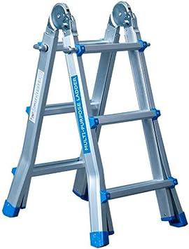 Escalera Plegable Aluminio TelescÓPica Escalones Antideslizantes Multiuso Profesional Escalera ÁTico Perfecta Para Casa DesvÁN Y Oficina,MÁX Carga De Capacidad De 150 Kg: Amazon.es: Bricolaje y herramientas