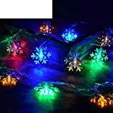 LED colored lights flashing light Little snowflake string lights Christmas lights-F