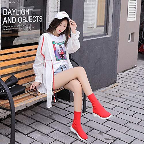 Et Bonneterie Printemps Marche Chaussettes De Rouge Femmes Soulèvement Élastiques Cross Chaussures training En Invisibles Pour Bottes Compensées Automne xIwYfqRq