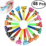NUOLUX Party Horns Noisemakers Blowouts - 48pcs