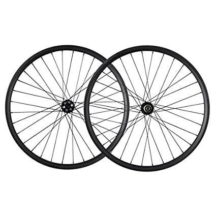 a856f056212 ICAN 29er Mountain Bike Carbon Wheelset Clincher Tubeless Ready Rim 32  Holes Quick Release Front 100x9mm