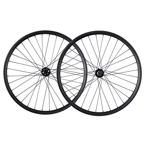 - ICAN 29er All Mountain Bike Carbon Wheelset Clincher Tubeless Ready Rim Front 100x15mm Rear 142x12mm Thru Axle