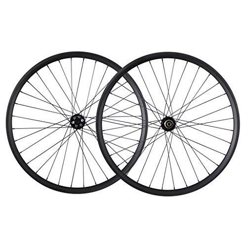 ICAN 29er All Mountain Bike Carbon Wheelset Clincher Tubeless Ready Rim Novatec Hub Boost Front 110x15mm Rear 148x12mm Sram XD Driver 10/11 Speeds