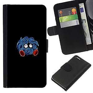 YiPhone /// Tirón de la caja Cartera de cuero con ranuras para tarjetas - Tangrowth P0kemon - Apple Iphone 5C