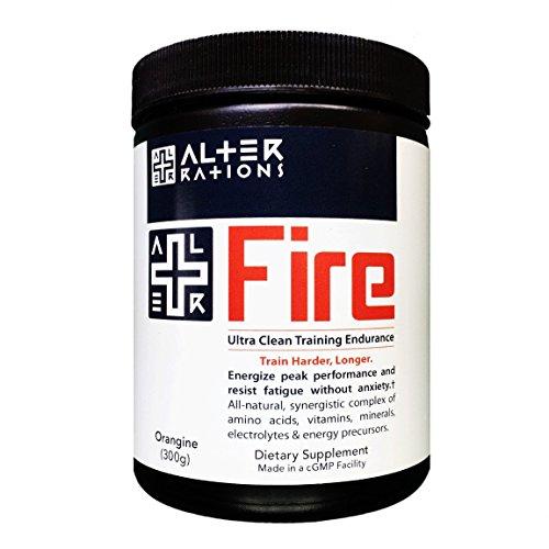ALTER FIRE | Ultra Clean Natural Pre-Workout Energy | Premium Beta Alanine, Creatine, Arginine, Citrulline & Alpha Lipoic Acid (15 servings)