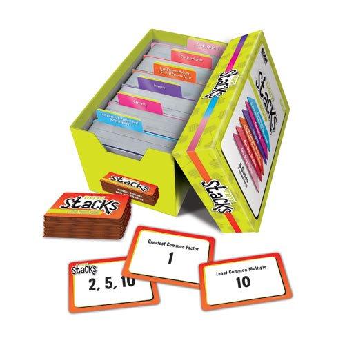 Game Education - EAI Education Math Stacks Classroom Game, Set of 6: Grades 6-8