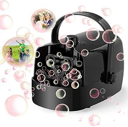 LDB Máquina de Burbujas,Máquina Automática de Burbujas para Niños Pompas de Jabón Juguetes Regalos Niños Niñas Fiesta Infantil Escenario Bodas al Aire Libre en Interiores