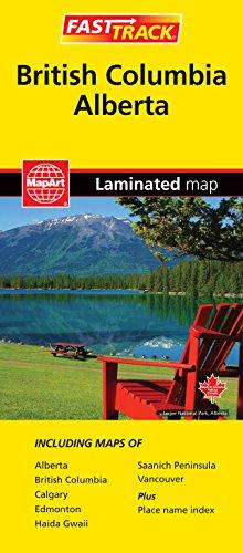 British Columbia & Alberta - Fast Track - laminated map