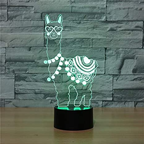 Decorative night lamp with 3D illusion of the Ahat brand with Smart Touch button for offices or homes(Alpaca): Amazon.es: Iluminación