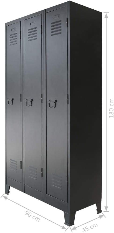 Armadietto per Soggiorno Armadietto per Camera da Letto 65/×36/×105cm Bianco Armadietto per Ufficio Festnight Armadietto di Metallo 6 Porta