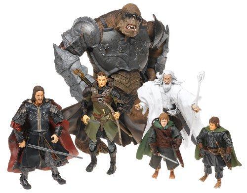 ロードオブザリング フィギュア トイビズ Middle-earth The [並行輸入品] Return of the King the LEGOLAS PIPPIN MERRY ARAGORN GANDALF ATTACK TROLL Action Figure フィギュア Final Battle of Middle-earth Gift Set [並行輸入品] B01B4R2GCM, アサヒシューズ直営店:a2ddb490 --- jpworks.be
