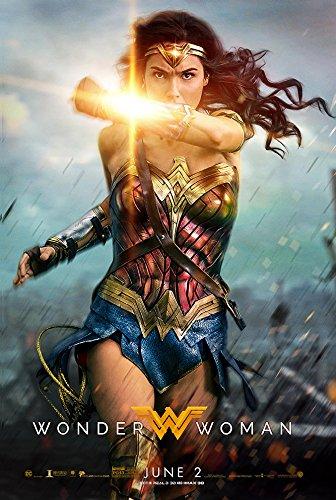 "Wonder Woman (2017, English Version) Style B - Movie Poster - Size 24""x36"""