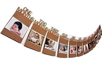 Pancarta de Foto de 12 Meses para El Primer Cumpleaños ...