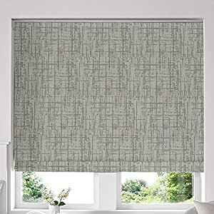Blinds2Curtains Mixed Green 160 cm x 200 cm Teagan Sage Roman Window Blinds