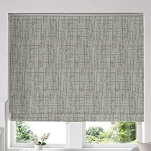 Blinds2Curtains Mixed Green 120 cm x 100 cm Teagan Sage Roman Window Blinds