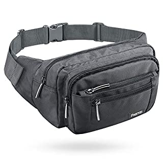 Best Fanny Pack 2019 - FREETOO Waist Pack Bag Fanny Pack for Men & Women Hip Bum Bag with Adjustable Strap for Outdoors Workout Traveling Casual Running Hiking Cycling (Gray)
