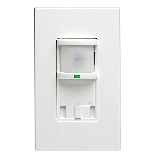 Passive Infrared Wall Switch Occupancy Sensor, Residential Grade, Ivory - Motion Activated Wall Switches - Amazon.com