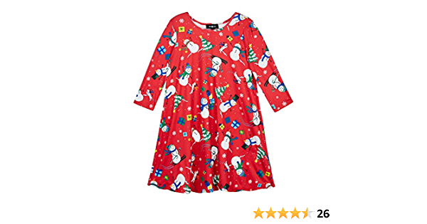 Amy Byer Girls Cute Ugly Christmas Sweater Style Dress