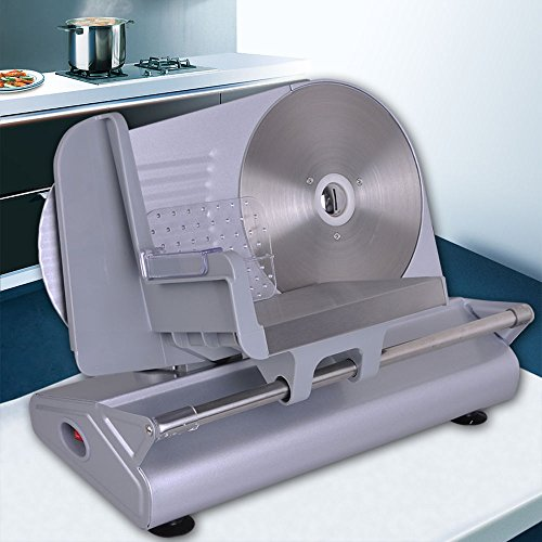 GHP 150W Stainless Steel 0-13mm Slices Electric Meat Slicer w 8.5
