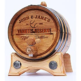 Golden Oak Barrel – Black Steel | Polished Steel | Brass | 30 page Aging Guide | Vinyl Barrel