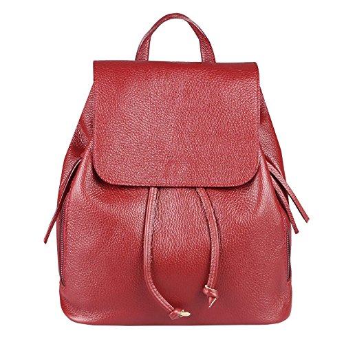 Main ca cm BxHxT à 35x30x12 porté Sac pour au Couture OBC Beautiful pétrole Femme Dos Only foncé rouge Vert wqxXOaHf