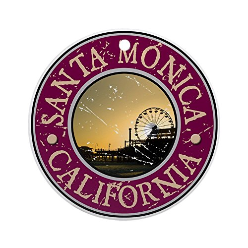 CafePress Santa Monica, California Ornament (Round) Round Holiday Christmas Ornament ()