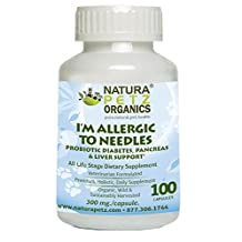Natura Petz Organics YACO1SNRDOG I'm Allergic to Needles Probiotic Pancreatic, Blood Glucose and Liver Support