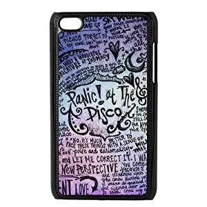 Protective DurPlastic Hard Cover Fits ipod touch 4 4th 4g - Panic At The Disco Designed by Windy City Accessories