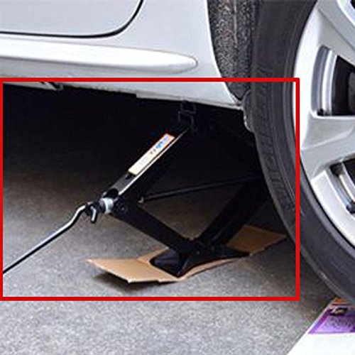 Steel Scissor Jack Black Rustproof 2 Ton Capacity/385mm Max.Height with Chromed Speed Crank Handle Tire Changing Tools for Car Van Truck Vehicles, 1PCs US Ship by DICN (Image #6)