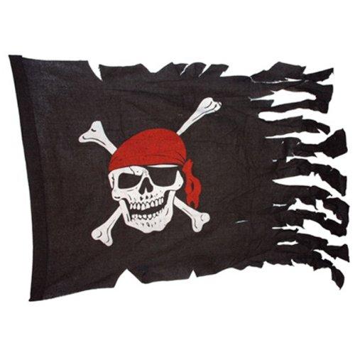 Jolly Roger Tattered Pirate Ship Battle -