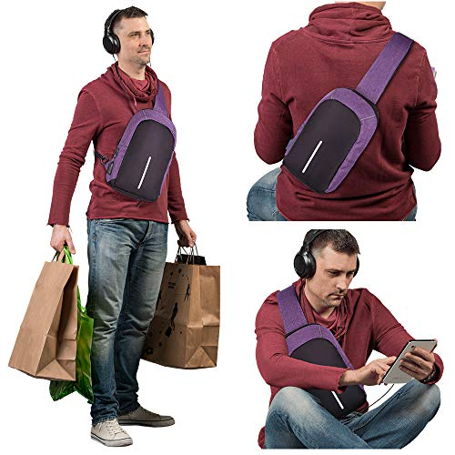 Chest Sling Shoulder Backpacks Bags Crossbody Rope Triangle Hiking Daypack