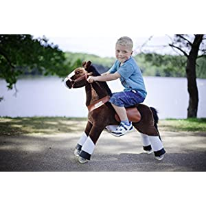 Smart Gear Pony Cycle Chocolate Horse Riding Toy: World's First Simulated Riding Toy for kids Age 4-9 Years Ponycycle ride-on medium by Smart Gear