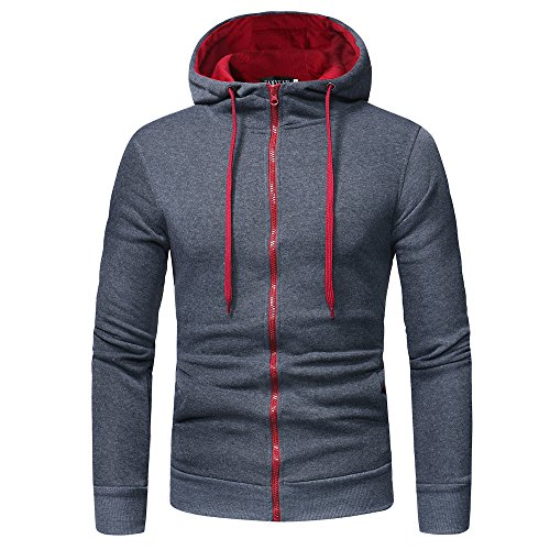 CUCUHAM Mens' Long Sleeve Hoodie Hooded Sweatshirt Tops