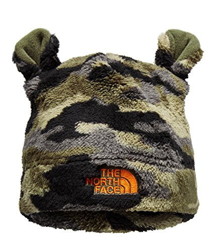The North Face Baby Bear Beanie - New Taupe Green Camo & Persian Orange - XXS ()