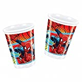 Amscan Ultimate Spiderman Plastic Cups Party Accessory