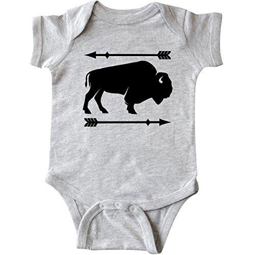 Inktastic Buffalo Cute Animal Western T-Shirt West Wild Arrow Silhouette Bison