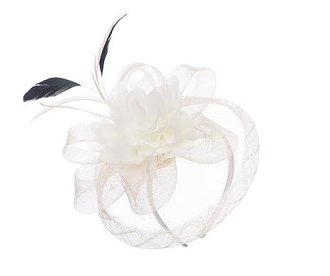 63a2a952 Cream Fascinator Hairband Occasions Races Weddings (Cream): Amazon.co.uk:  Clothing