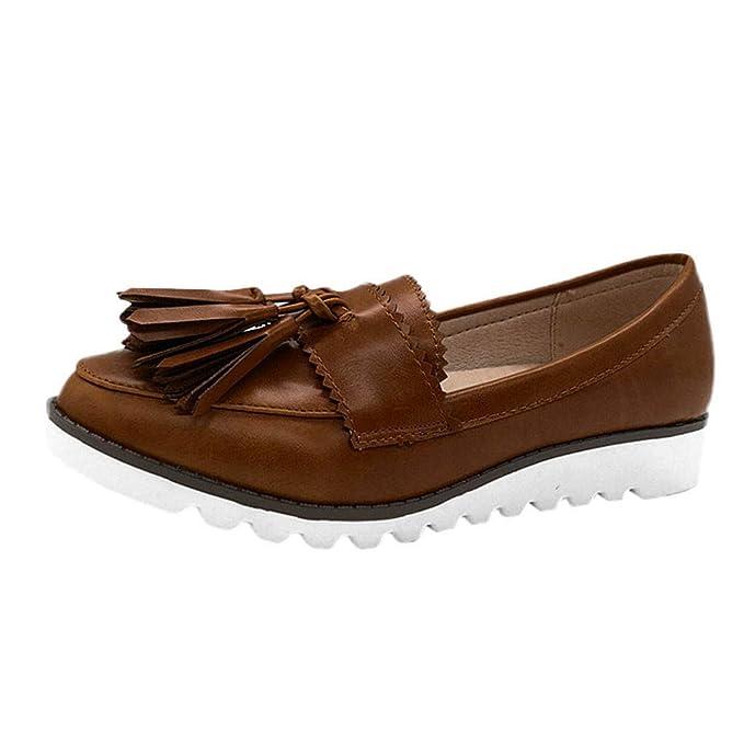Yvelands Rutup Retro Mujeres liquidación Cabeza Redonda Pisos Boca Baja Plataforma Mocasines Guisantes Zapatos de Barco