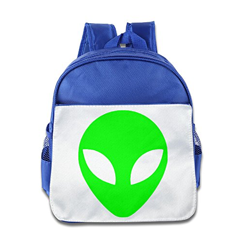 [KIDDOS Infant Toddler Kids Green Alien Head UFO Cartoon ET Backpack School Bag, RoyalBlue] (Blues Clues Costumes Toddler)