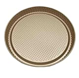 MBB Perforated Nonstick Bakeware Pizza Pan Crisper Tray 10.5'' Carbon Steel - Gold