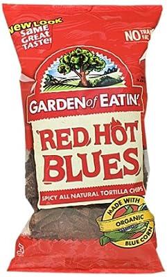 Garden of Eatin' Tortilla Chips, Red Hot Blues, 8.1 Ounce (Pack of 12)