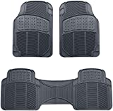 AmazonBasics 3 Piece Rubber Car Floor Mat, Grey