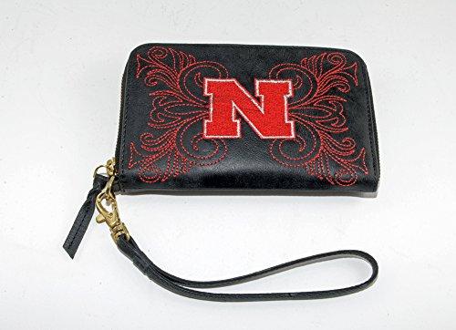 - Gameday Boots NCAA Nebraska Cornhuskers Women's U of Nebraskau Wristlet, Black, 8 x 5 1