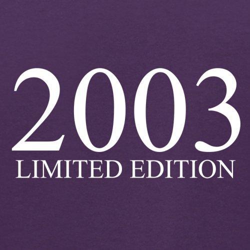 2003 Limierte Auflage / Limited Edition - 14. Geburtstag - Herren T-Shirt - Lila - L