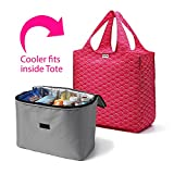 RuMe Large Tote Bag with Large 2Cool Insulated Cooler Insert Set of 2 (Emerson)
