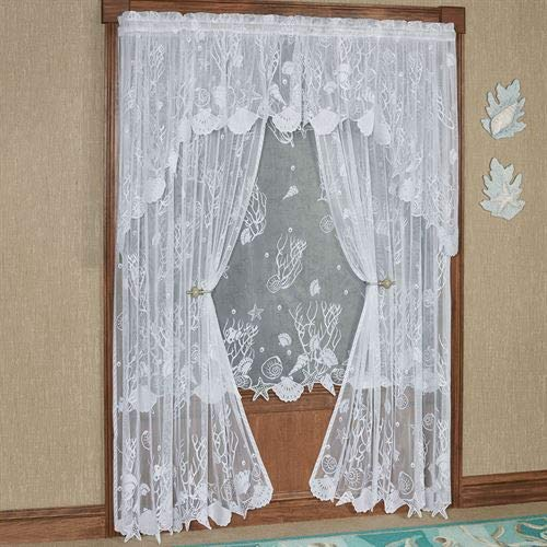 Touch of Class Sea Treasures Lace Curtain