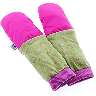 mimiTENS Classic Long Sleeve Warm Winter Mittens (Size 3-4, Pink) by mimiTENS