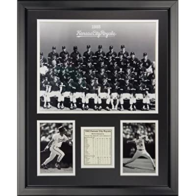 """Legends Never Die 1985 Kansas City Royals - Posed Framed Photo Collage, 16"""" x 20"""" by Legends Never Die"""