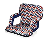 Picnic Time Portable Ventura Reclining Stadium Seat, Vibe Collection
