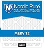 18x25x1-MERV 12 A/C Furnace Air Filters by Nordic Pure (Box of 6)